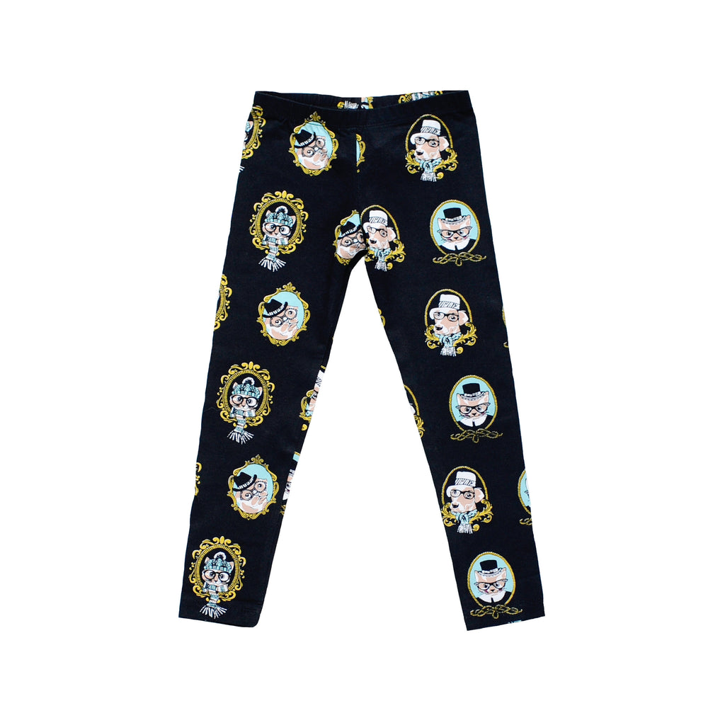 Kids Cats & Dogs Print Leggings