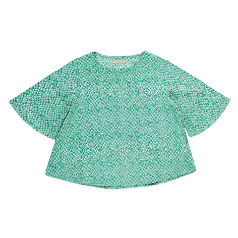 Seeker Top, Green Scallop