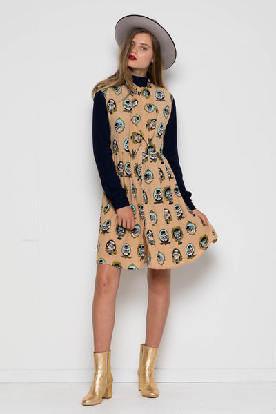 Red Robin Tie Cats & Dogs Dress