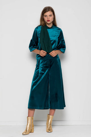 Velvet Under Ground Culotte, Teal