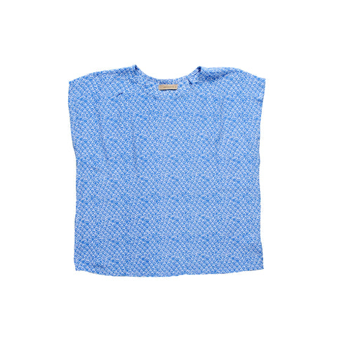 Summer Astro Top - Blue Scallop