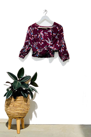 Tempranillo Wrap Top
