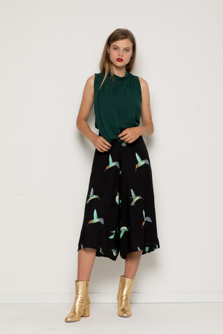 Black Afternoon Culottes