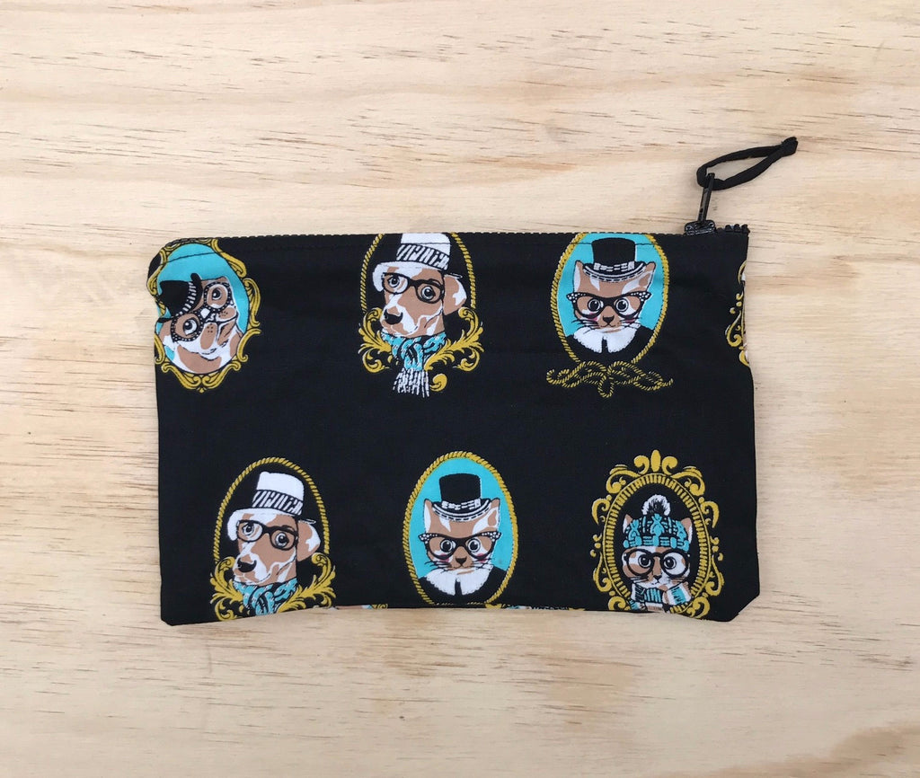 Zip Cats & Dogs Cameo Purse