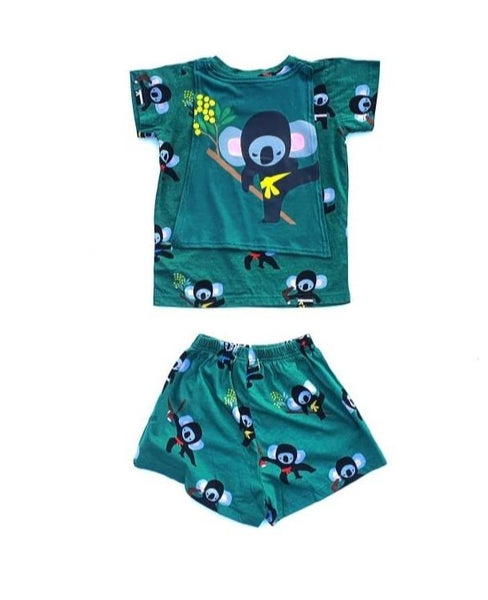 Kids Koala Ninja Pajama with Cape