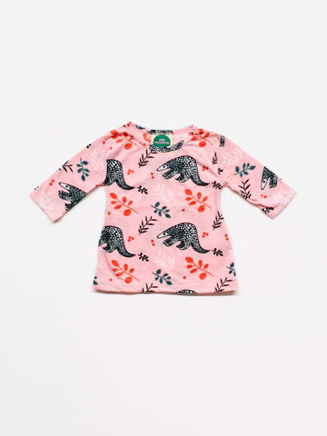 Little Leonard St Long Sleeved Tee - Pink Pangolin