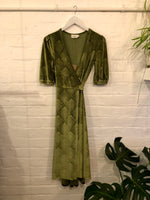 The Great Gatsby Velvet Wrap Dress