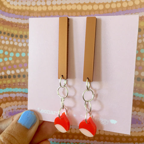 Gum-Chuck Earrings