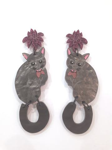 Possum Dangle Earrings