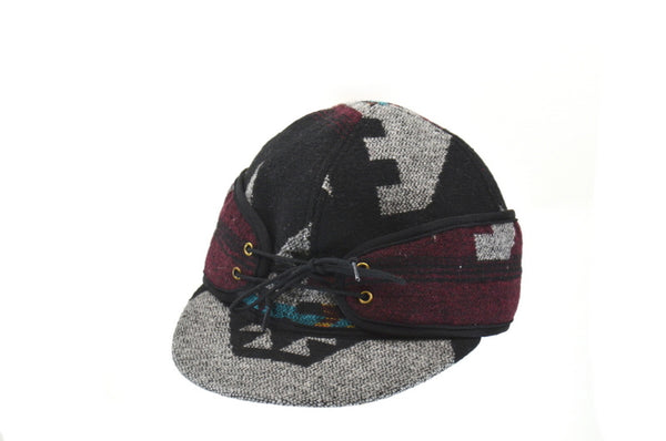 Burgundy Mix Aztec Railroad Hat (P)