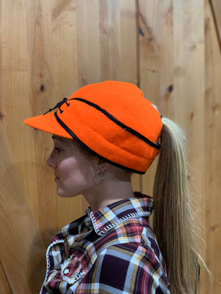 """Slit"" BLAZE ORANGE Railroad Hat (P-S)"