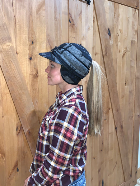 """Slit"" NAVY MIX AZTEC Railroad Hat (P-S)"