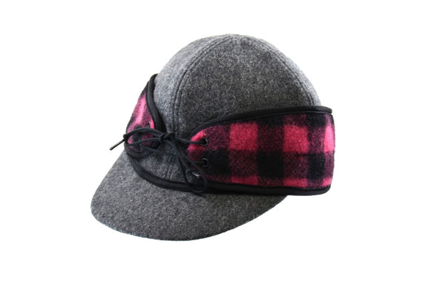 Grey/Pink Buffalo Railroad Hat (P)