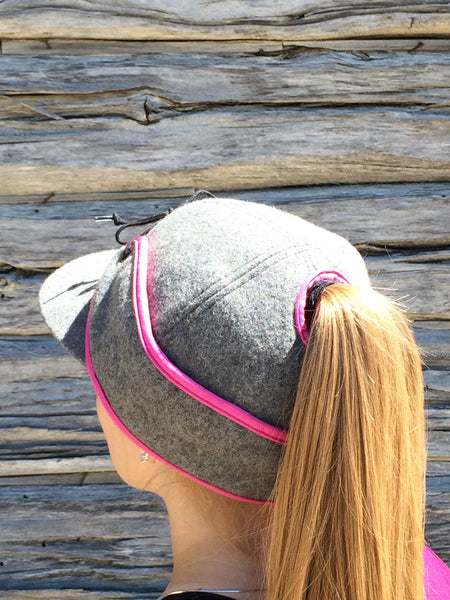 Grey/Pink Railroad Hat (P)