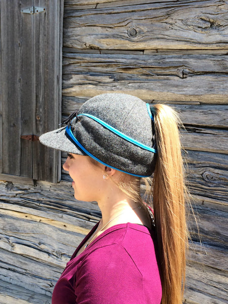 Grey/Blue Railroad Hat (P)