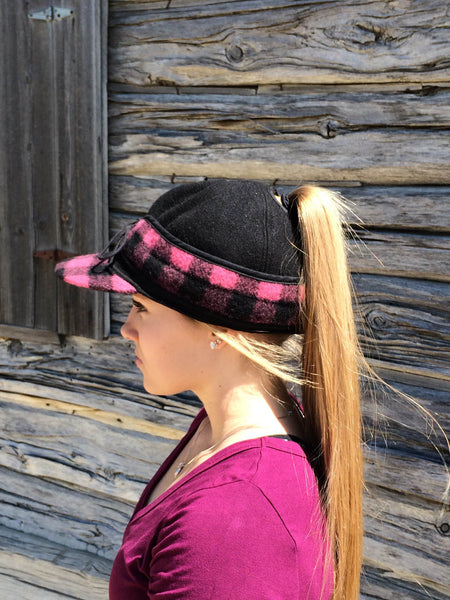 Black/Pink Buffalo Railroad Hat (P)