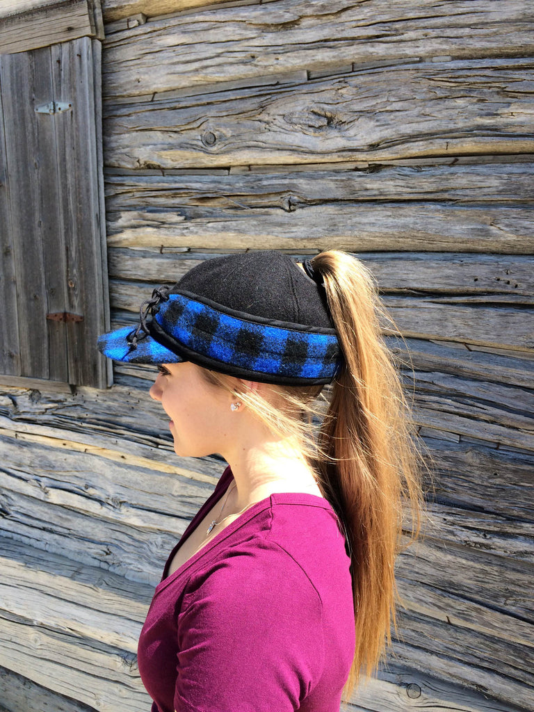 Black/Blue Buffalo Railroad Hat (P)