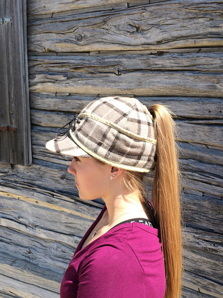 Oatmeal Plaid Railroad Hat (P)