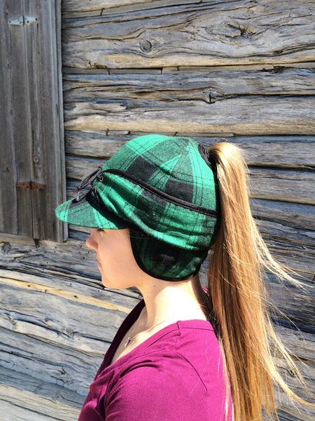 Green Plaid Railroad Hat (P)