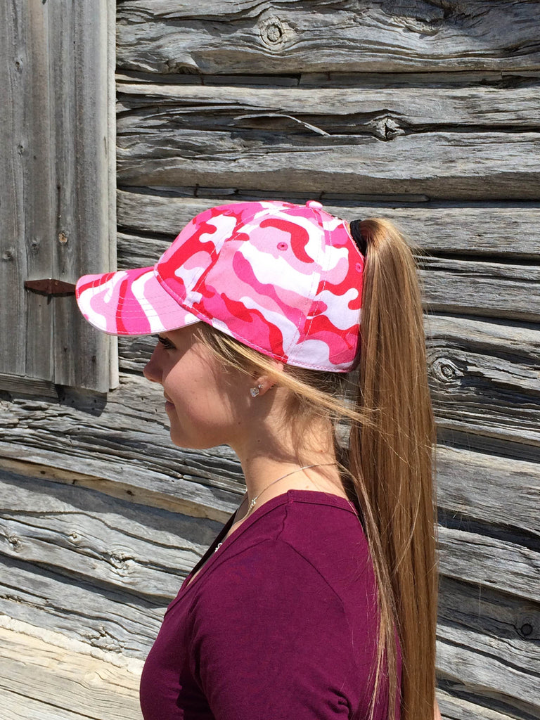 Pink Camo Cap Embroidered