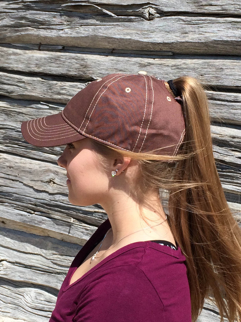 Brown w/Tan Stitch Cap