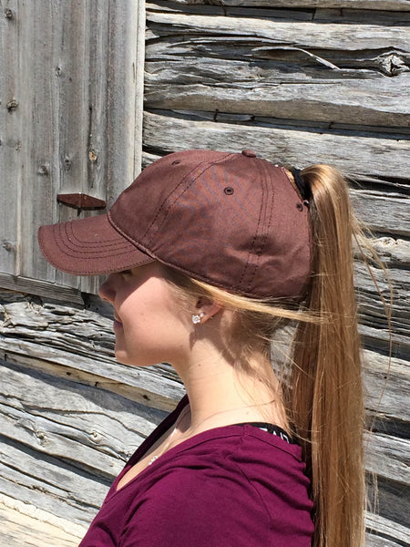 Brown Baseball Cap Embroidered