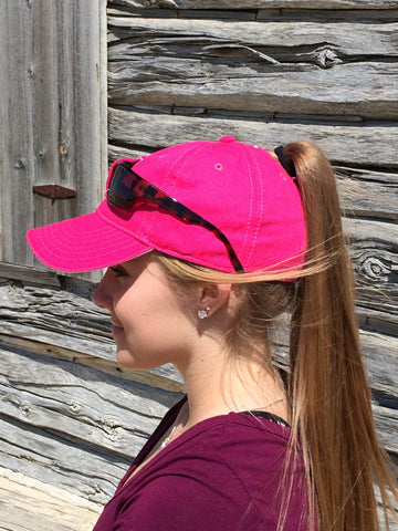 Pink Sunglass Cap Embroidered