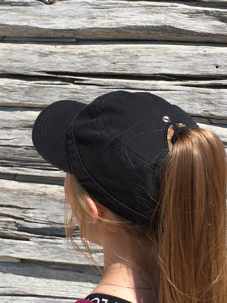 Black Military Cap Embroidered