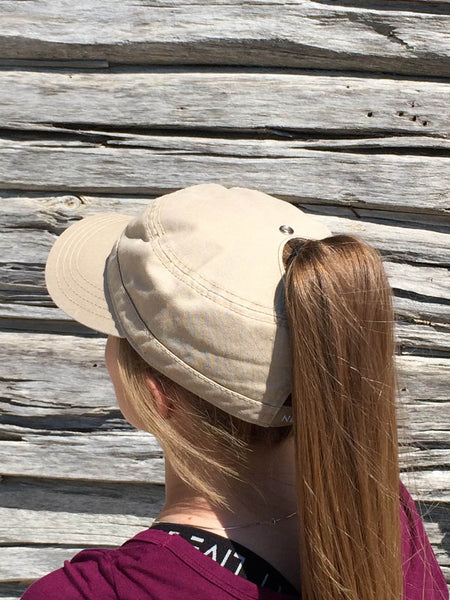 Khaki Military Cap Embroidered