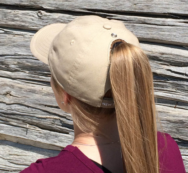 Khaki Baseball Cap Embroidered