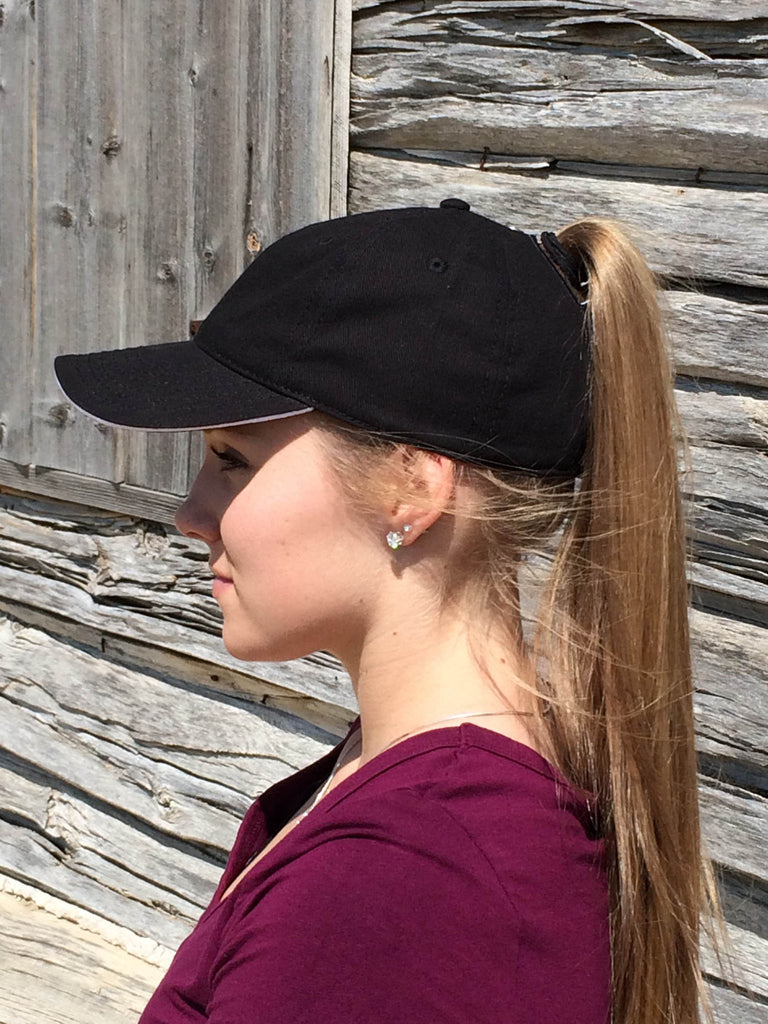 Black Baseball Cap Embroidered