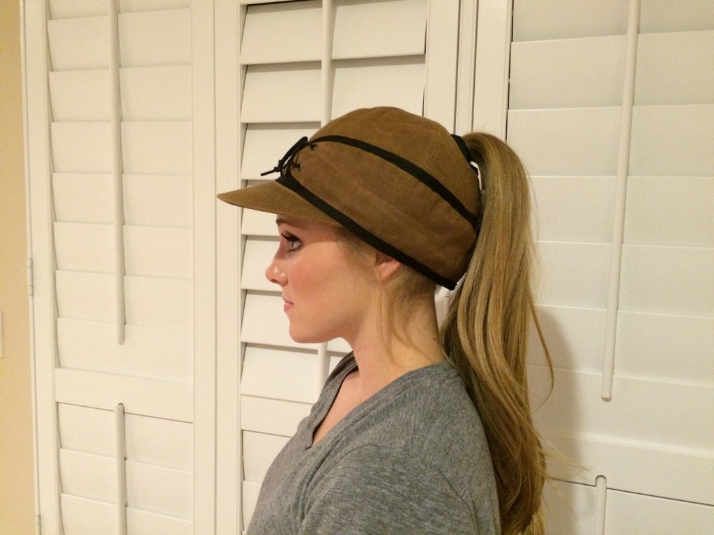 Khaki Canvas Railroad Hat (P)