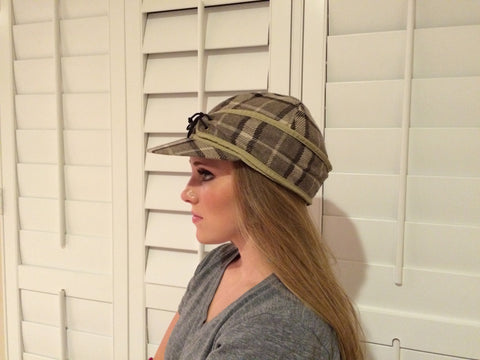 Oatmeal Plaid Railroad Hat
