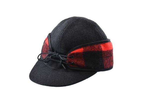 Black/Red Buffalo Railroad Hat (Available in XXS)