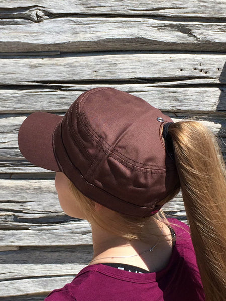 Brown Military Cap
