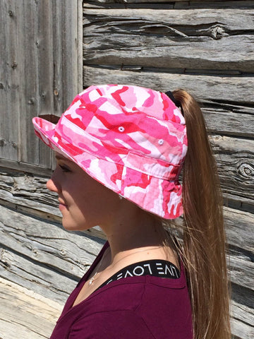 Pink Camo Bucket Hat Embroidered