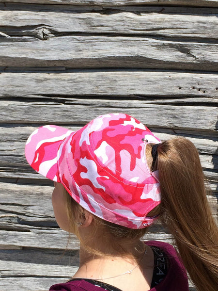 Pink Camo Military Cap Embroidered