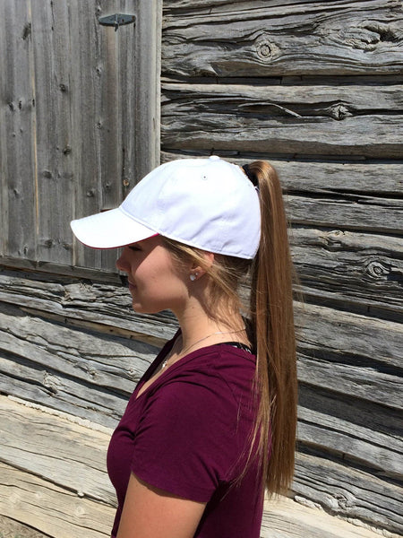 White Baseball Cap Embroidered