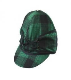 Green Plaid Railroad Hat