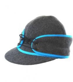 Grey/Blue Railroad Hat *Available in XS