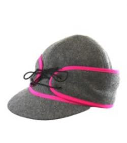 Grey/Pink Railroad Hat