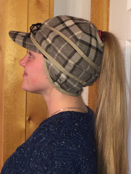 Oatmeal Plaid Railroad Hat (P-O)