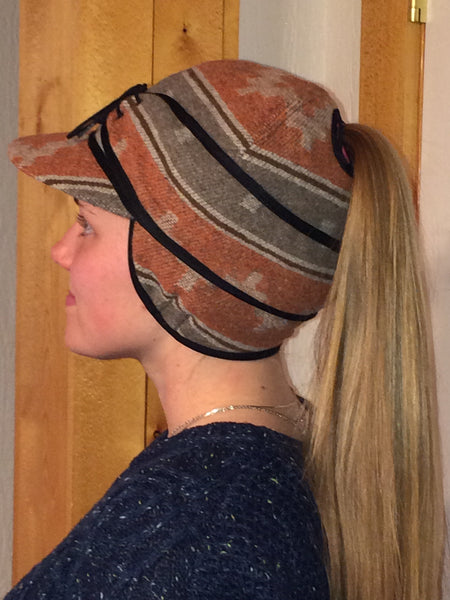 Orange Navajo Railroad Hat (P)