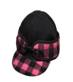 Black/Pink Buffalo Railroad Hat *Avail in XXS & XS