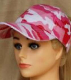 Pink Camo Baseball Cap With Embroidery