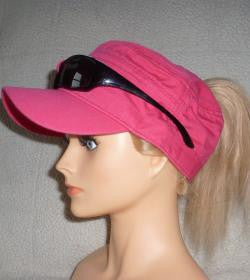 Pink Sunglass Cap With Embroidery