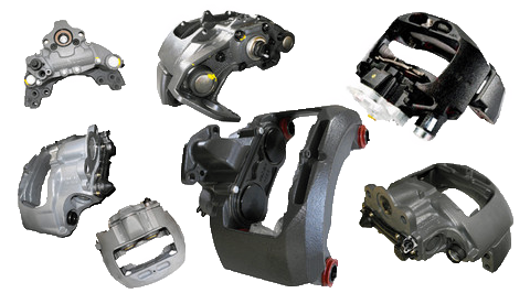 Brake calipers (trucks, semitrailers, buses)
