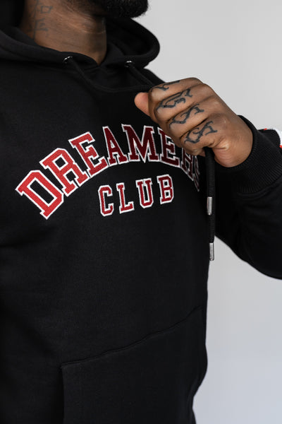 Dreamers Club Red/black hooded sweater