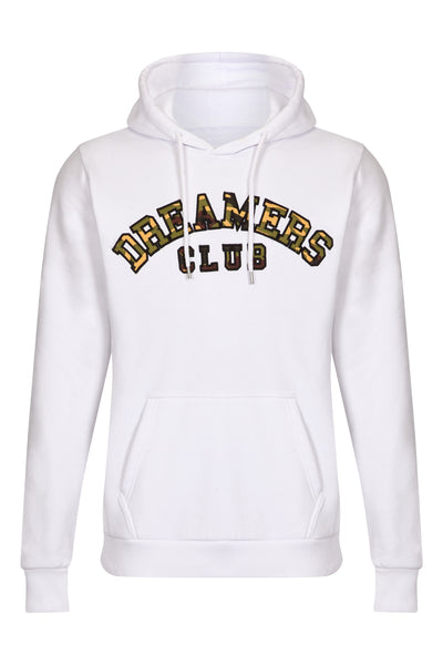 Dreamers Club Pullover Hood, White Camo
