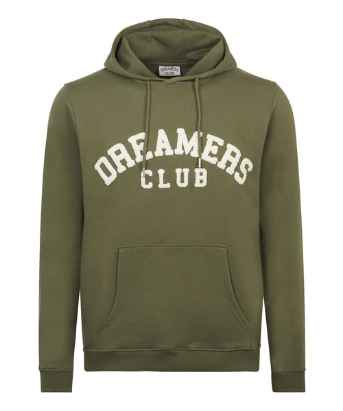 Dreamers Club - Chenilled Pull over hood, Olive
